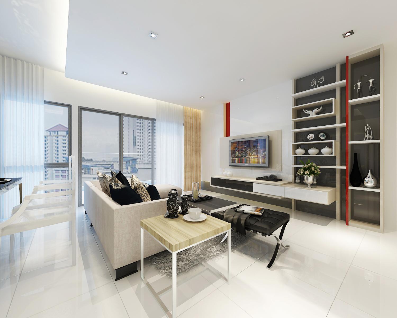Renovation works builder and contractor singapore for Living room interior design singapore