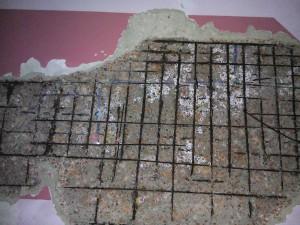 Spalling Concrete Repair on Ceiling